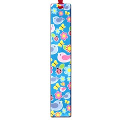 Spring pattern - blue Large Book Marks