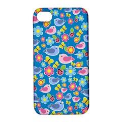 Spring pattern - blue Apple iPhone 4/4S Hardshell Case with Stand