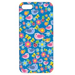 Spring pattern - blue Apple iPhone 5 Hardshell Case with Stand