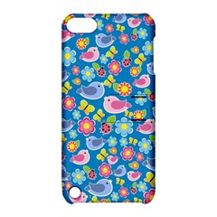Spring pattern - blue Apple iPod Touch 5 Hardshell Case with Stand