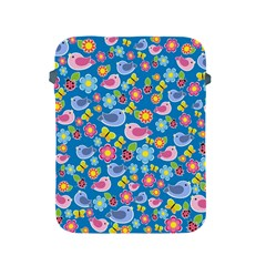 Spring pattern - blue Apple iPad 2/3/4 Protective Soft Cases