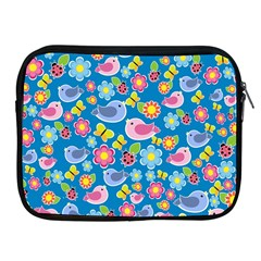 Spring pattern - blue Apple iPad 2/3/4 Zipper Cases