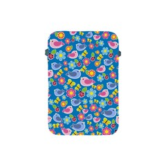 Spring pattern - blue Apple iPad Mini Protective Soft Cases