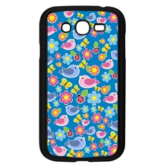 Spring pattern - blue Samsung Galaxy Grand DUOS I9082 Case (Black)