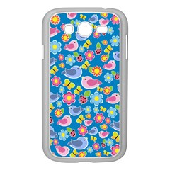 Spring pattern - blue Samsung Galaxy Grand DUOS I9082 Case (White)