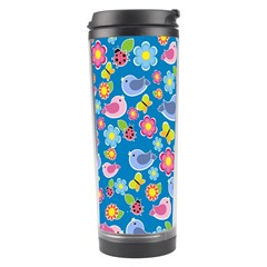 Spring pattern - blue Travel Tumbler