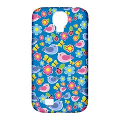 Spring pattern - blue Samsung Galaxy S4 Classic Hardshell Case (PC+Silicone)