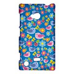 Spring pattern - blue Nokia Lumia 720
