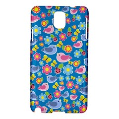 Spring pattern - blue Samsung Galaxy Note 3 N9005 Hardshell Case