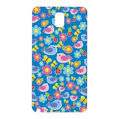 Spring pattern - blue Samsung Galaxy Note 3 N9005 Hardshell Back Case