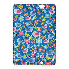 Spring pattern - blue Kindle Fire HDX 8.9  Hardshell Case
