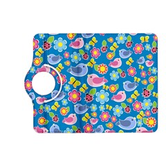 Spring pattern - blue Kindle Fire HD (2013) Flip 360 Case