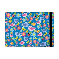Spring pattern - blue iPad Mini 2 Flip Cases