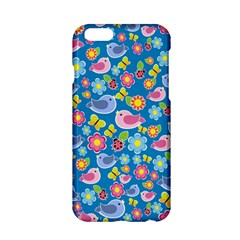 Spring pattern - blue Apple iPhone 6/6S Hardshell Case