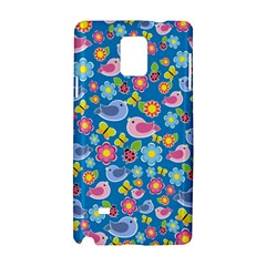 Spring pattern - blue Samsung Galaxy Note 4 Hardshell Case