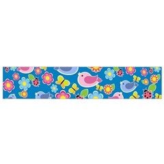 Spring pattern - blue Flano Scarf (Small)