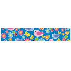 Spring pattern - blue Flano Scarf (Large)