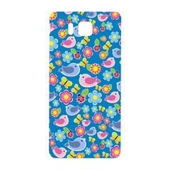 Spring pattern - blue Samsung Galaxy Alpha Hardshell Back Case