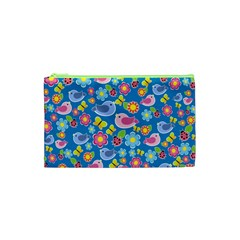 Spring pattern - blue Cosmetic Bag (XS)