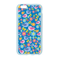 Spring pattern - blue Apple Seamless iPhone 6/6S Case (Color)