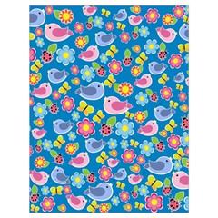 Spring pattern - blue Drawstring Bag (Large)