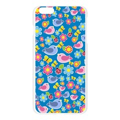 Spring pattern - blue Apple Seamless iPhone 6 Plus/6S Plus Case (Transparent)