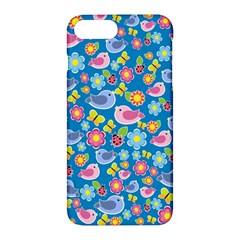 Spring pattern - blue Apple iPhone 7 Plus Hardshell Case