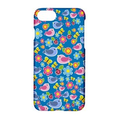 Spring pattern - blue Apple iPhone 7 Hardshell Case