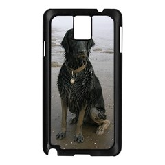 Flat Coated Retriever Muddy Wet Samsung Galaxy Note 3 N9005 Case (Black)