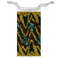 Painted waves                                                         Jewelry Bag