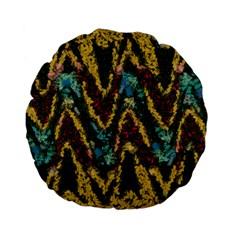 Painted waves                                                         Standard 15  Premium Flano Round Cushion
