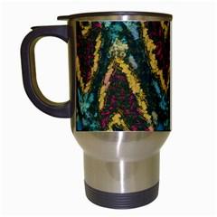 Painted waves                                                         Travel Mug (White)