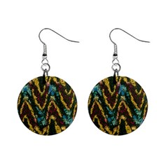 Painted waves                                                         1  Button Earrings