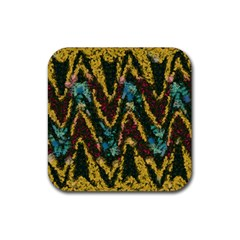Painted waves                                                         			Rubber Square Coaster (4 pack