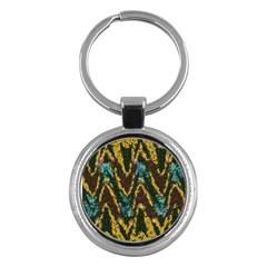 Painted waves                                                         			Key Chain (Round)
