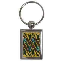 Painted waves                                                         Key Chain (Rectangle)