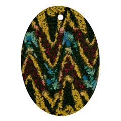 Painted waves                                                         Ornament (Oval)