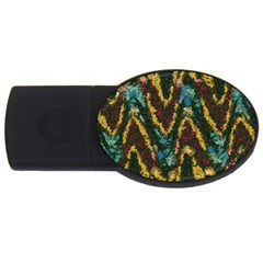 Painted waves                                                         USB Flash Drive Oval (1 GB)