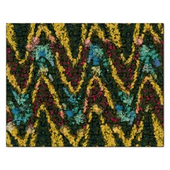 Painted waves                                                         			Jigsaw Puzzle (Rectangular)