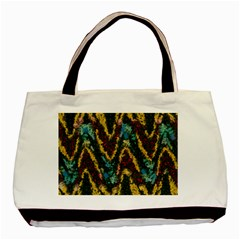 Painted waves                                                         			Basic Tote Bag