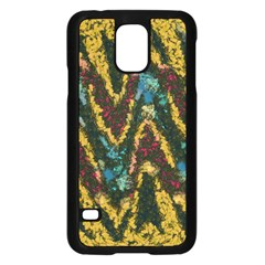 Painted waves                                                        Samsung Galaxy S5 Case (Black)
