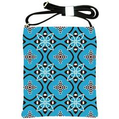 Ornamental flowers pattern                                                         Shoulder Sling Bag