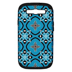 Ornamental flowers pattern                                                        			Samsung Galaxy S III Hardshell Case (PC+Silicone)