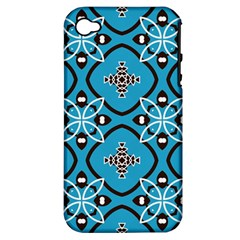 Ornamental flowers pattern                                                        Apple iPhone 4/4S Hardshell Case (PC+Silicone)
