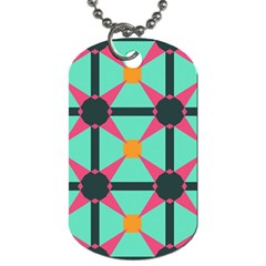 Pink stars pattern                                                          Dog Tag (One Side)