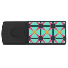 Pink stars pattern                                                          USB Flash Drive Rectangular (2 GB)