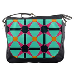 Pink stars pattern                                                          			Messenger Bag