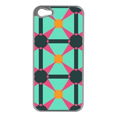 Pink stars pattern                                                         Apple iPhone 5 Case (Silver)