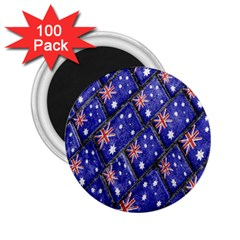 Australian Flag Urban Grunge Pattern 2.25  Magnets (100 pack)