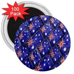 Australian Flag Urban Grunge Pattern 3  Magnets (100 pack)